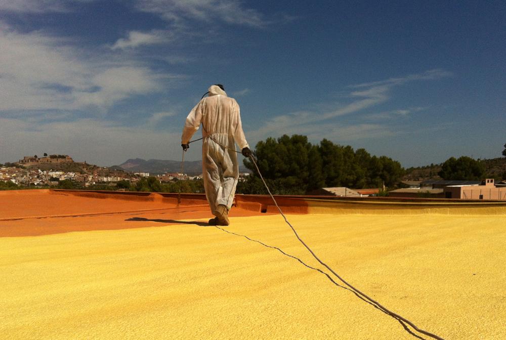 Protección del poliuretano con pintura de caucho