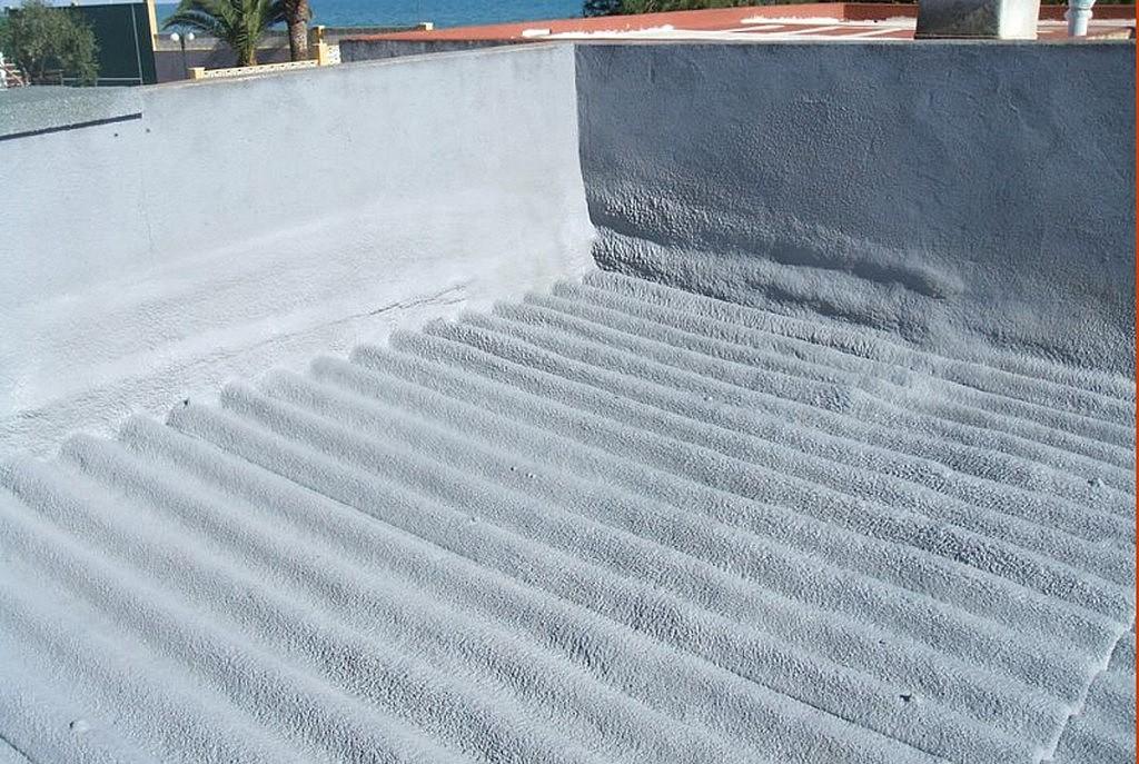 Cubierta ondulada con poliuretano y protección u.v